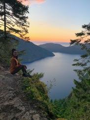 Lake Crescent at sunset